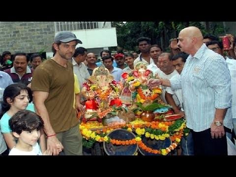 Hrithik Roshan Ganpati Immersion 2015
