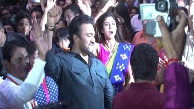 Shilpa Sheety Ganpati Visarjan 2015