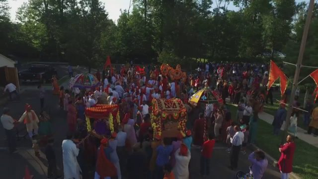 Philadelphia Ganesh Festival 2017 Procession using DRONE